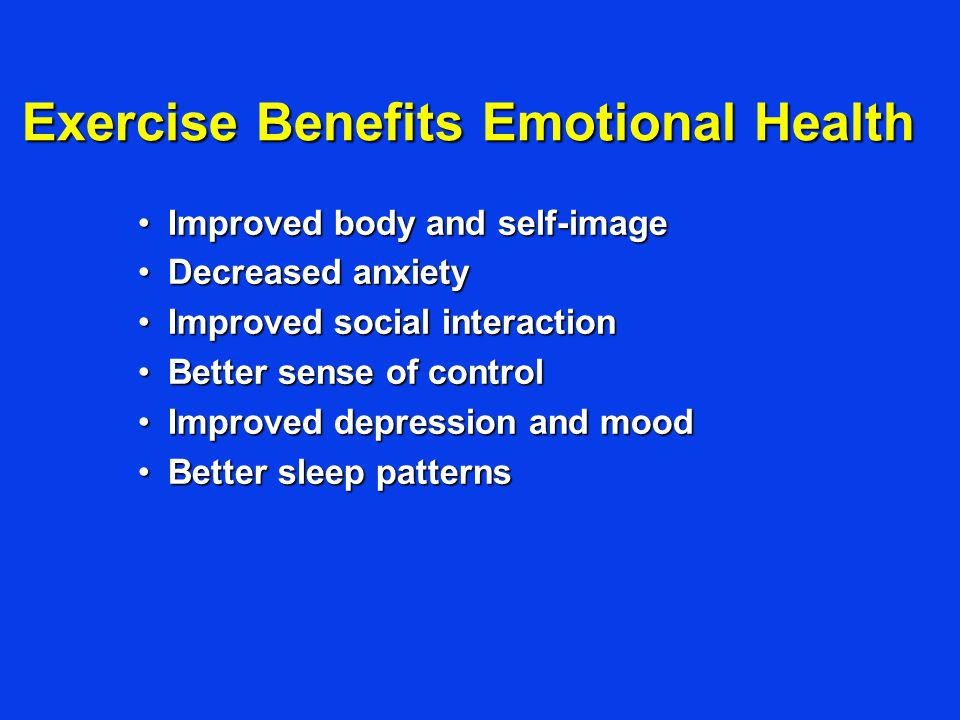 Exercise Benefits Emotional Health