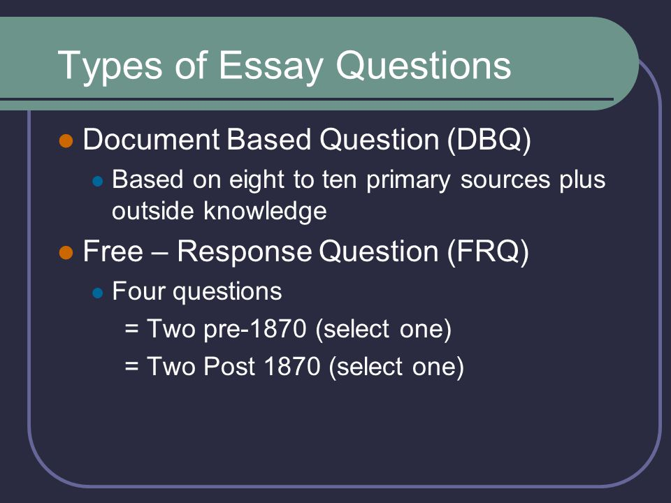 3 types of essay questions