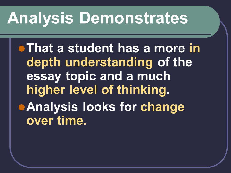 Analysis Demonstrates