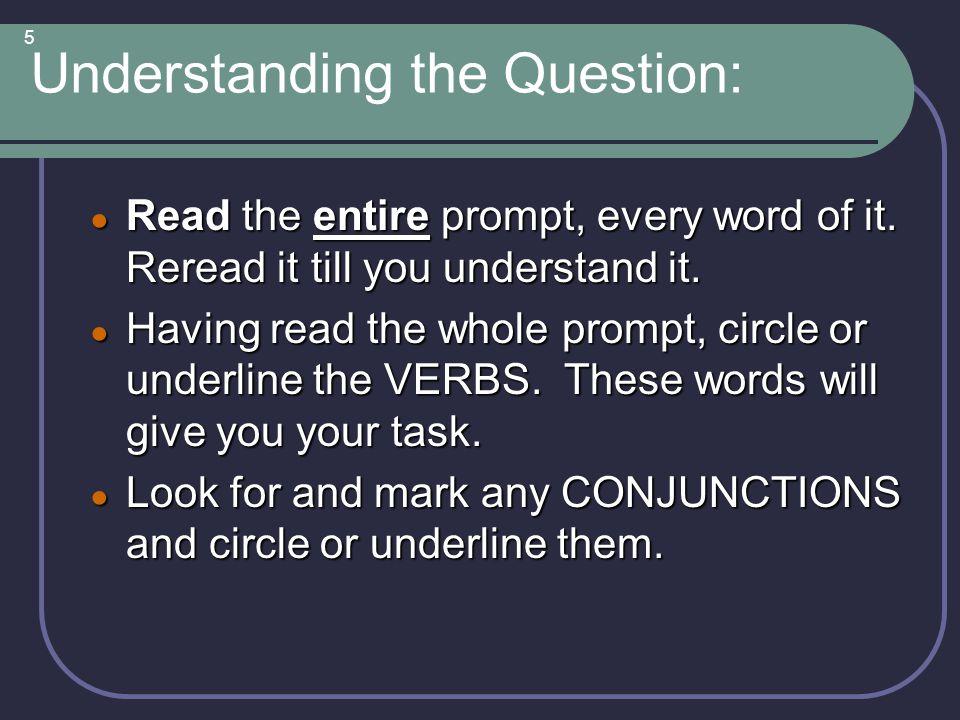 Understanding the Question:
