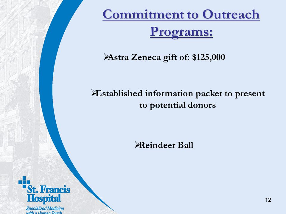 Commitment to Outreach Programs: