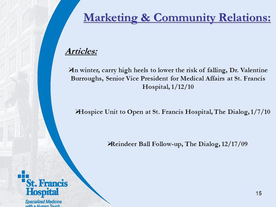 Marketing & Community Relations: