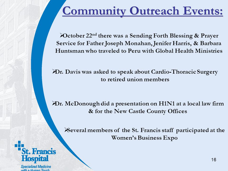 Community Outreach Events: