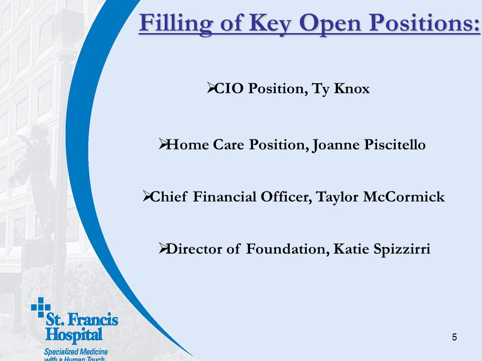 Filling of Key Open Positions: