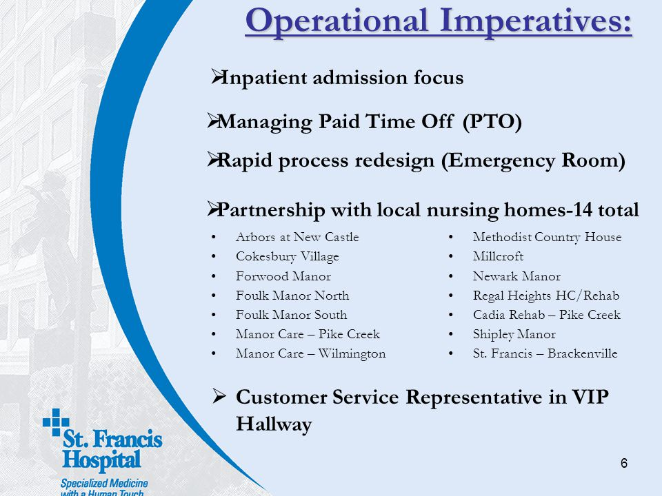 Operational Imperatives: