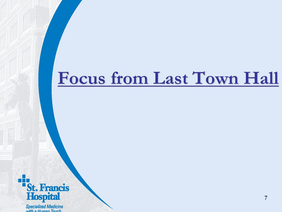 Focus from Last Town Hall