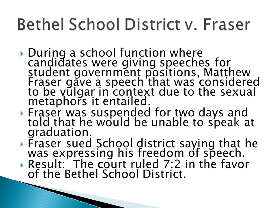 Bethel School District v. Fraser