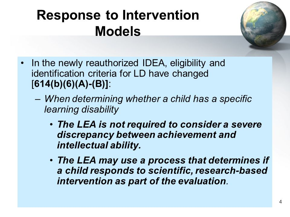 Response to Intervention Models