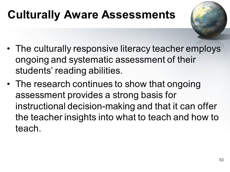 Culturally Aware Assessments