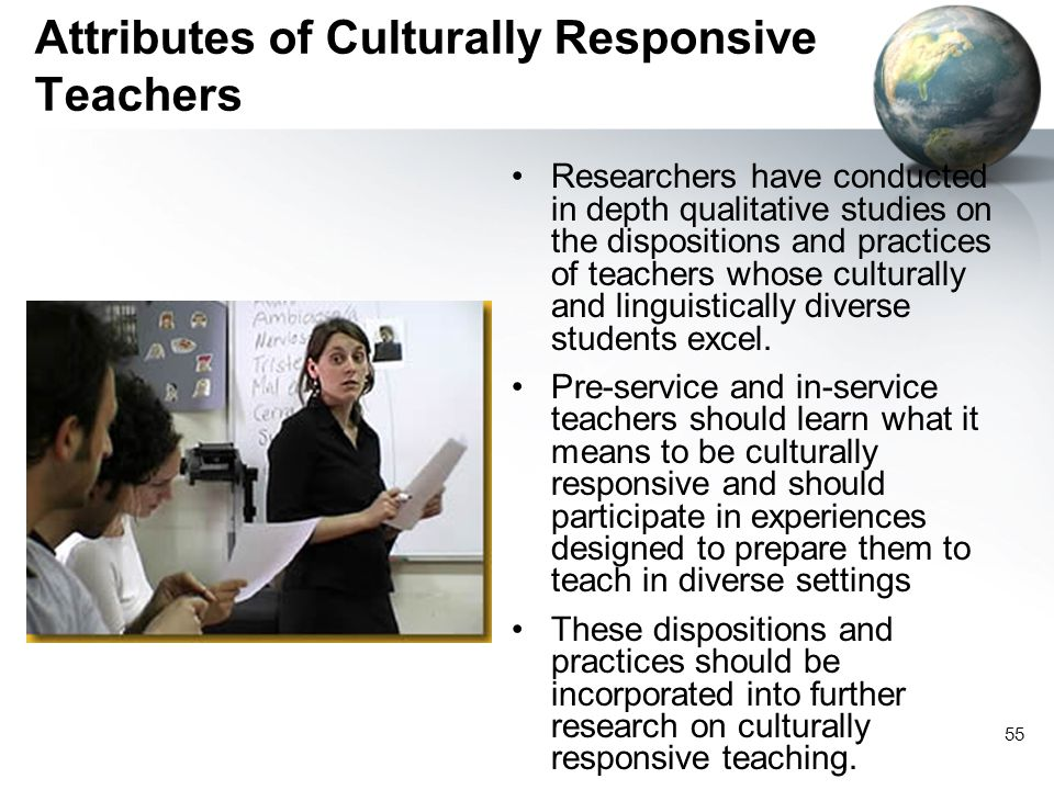 Attributes of Culturally Responsive Teachers