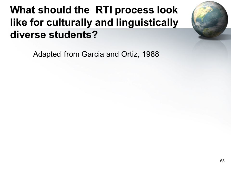 What should the RTI process look like for culturally and linguistically diverse students