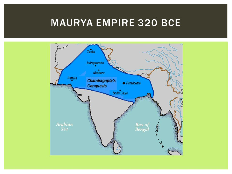 Maurya Empire 320 BCE