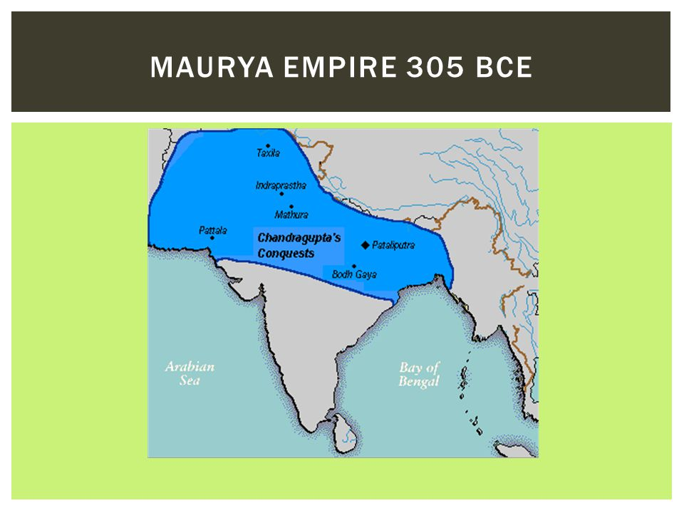 Maurya Empire 305 BCE