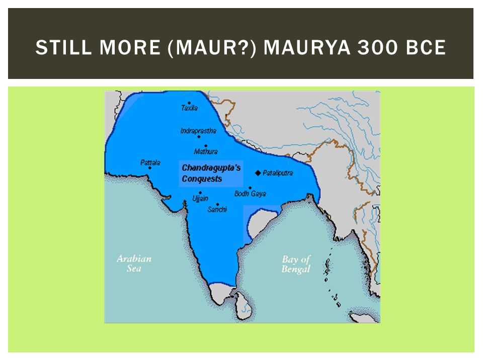 Still More (Maur ) Maurya 300 BCE