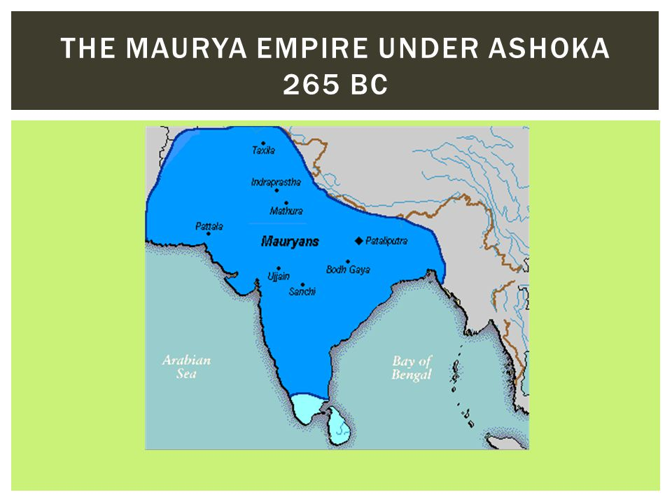 The Maurya Empire under ashoka 265 BC
