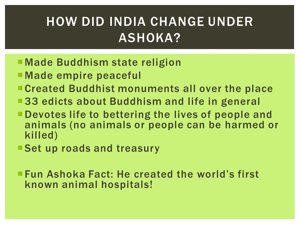How did India change under Ashoka
