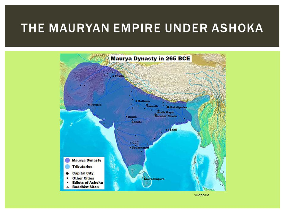 The mauryan empire under Ashoka