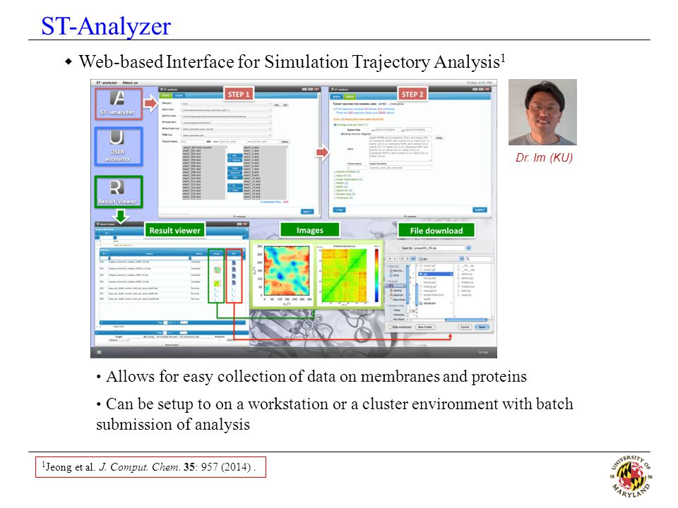 ST-Analyzer Web-based Interface for Simulation Trajectory Analysis1