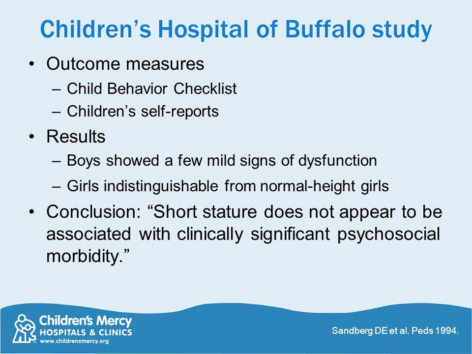 Children's Hospital of Buffalo study