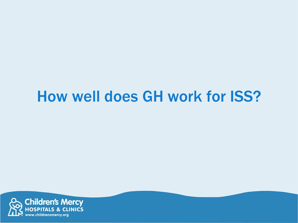 How well does GH work for ISS