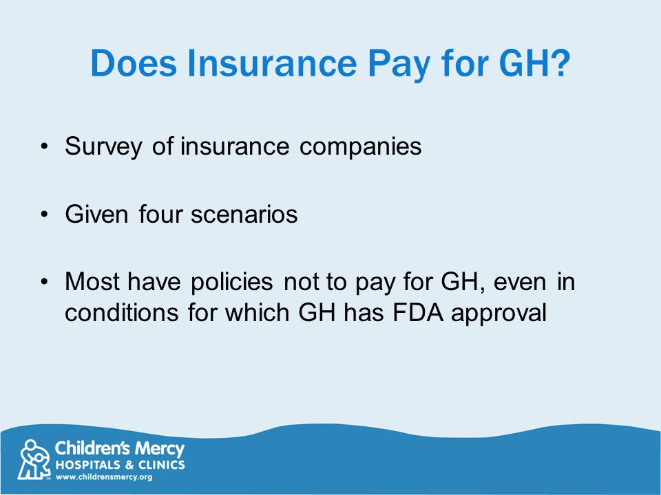 Does Insurance Pay for GH