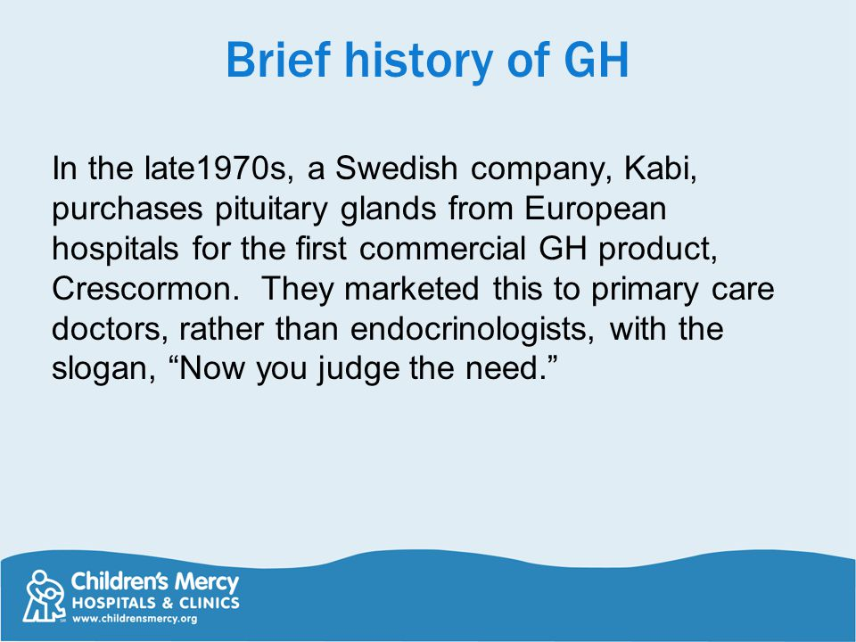 Brief history of GH