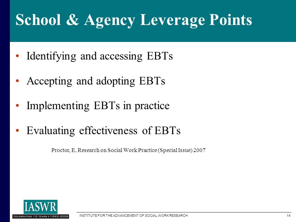 School & Agency Leverage Points