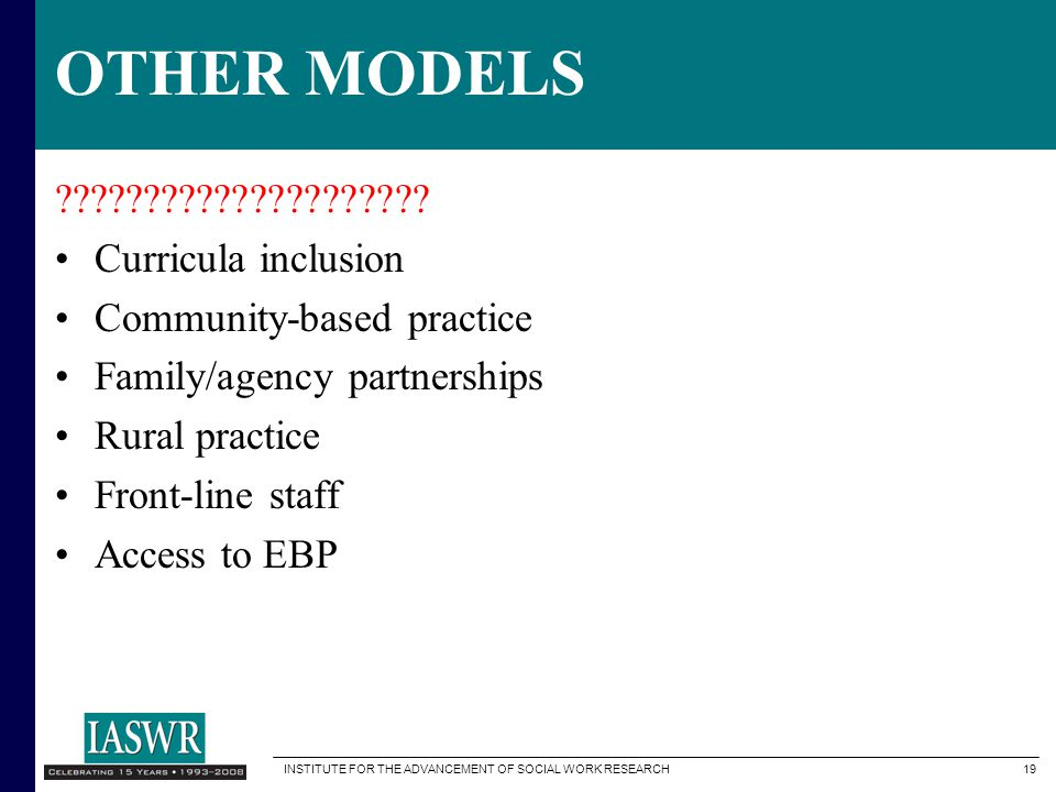 OTHER MODELS Curricula inclusion