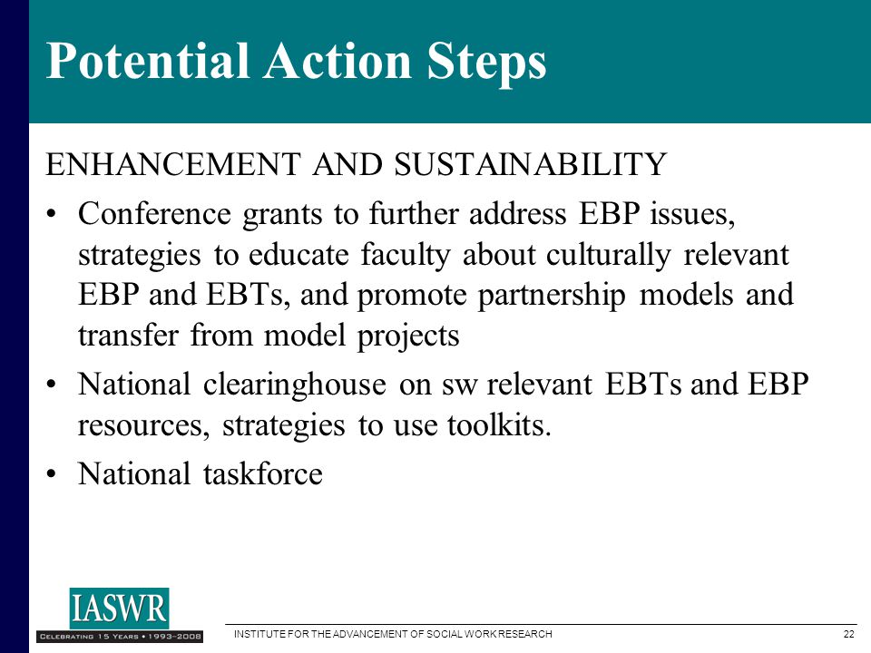 Potential Action Steps