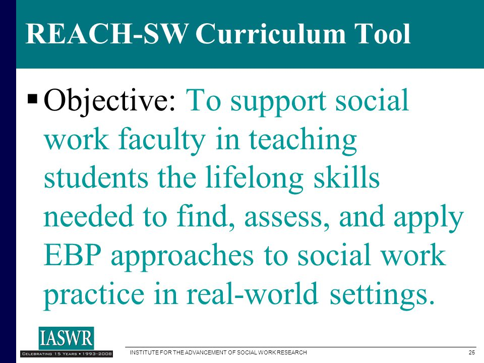 REACH-SW Curriculum Tool