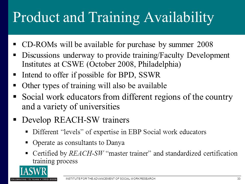 Product and Training Availability