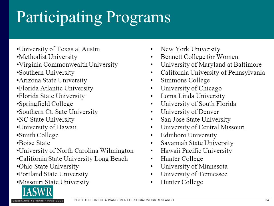 Participating Programs