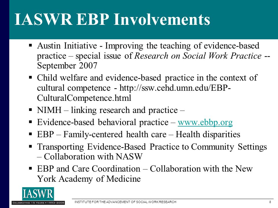 IASWR EBP Involvements