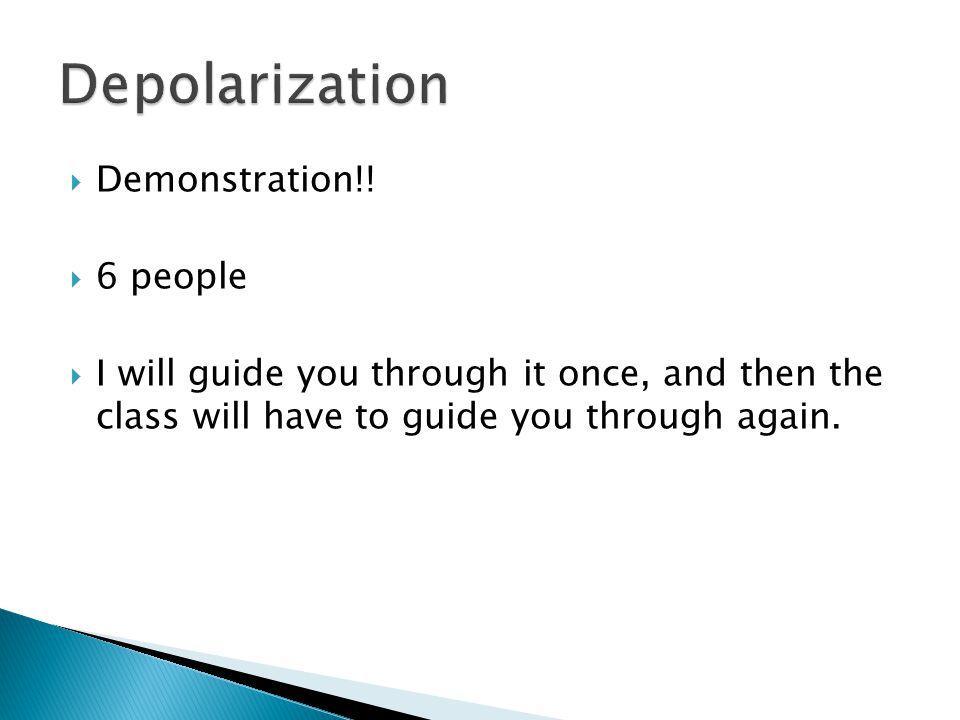 Depolarization Demonstration!! 6 people