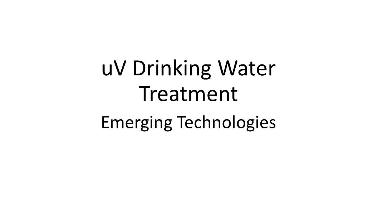 uV Drinking Water Treatment