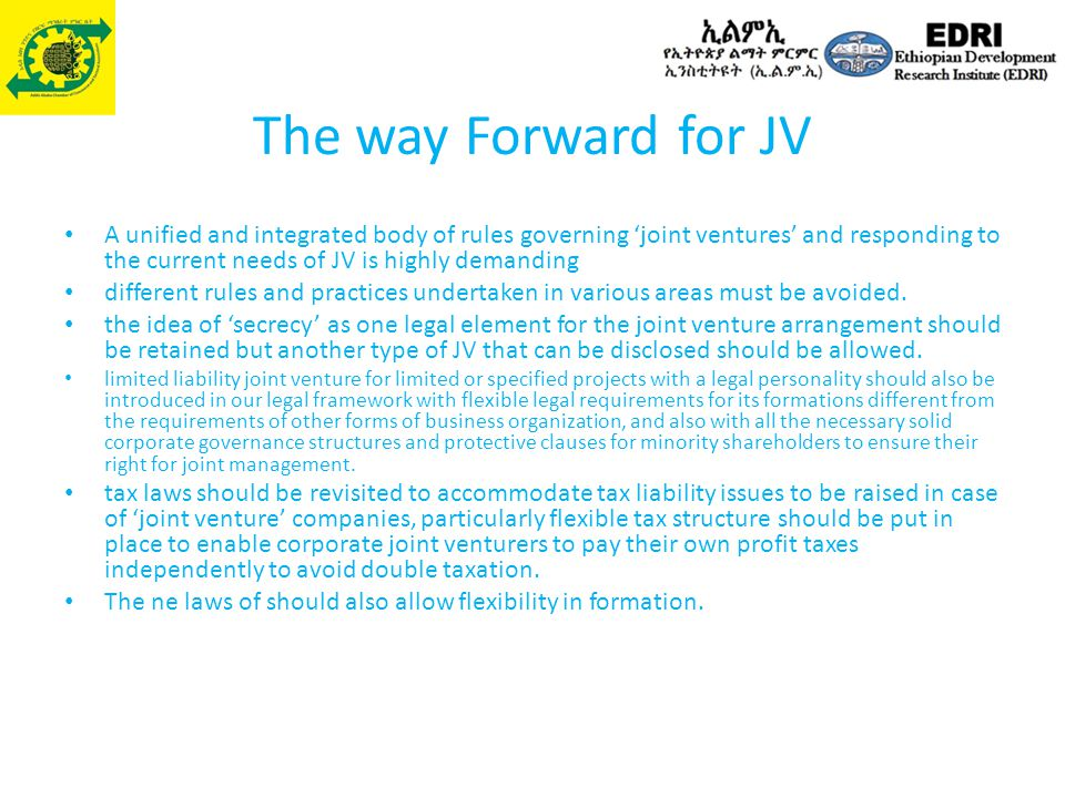 The way Forward for JV