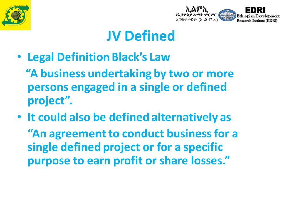 JV Defined Legal Definition Black's Law