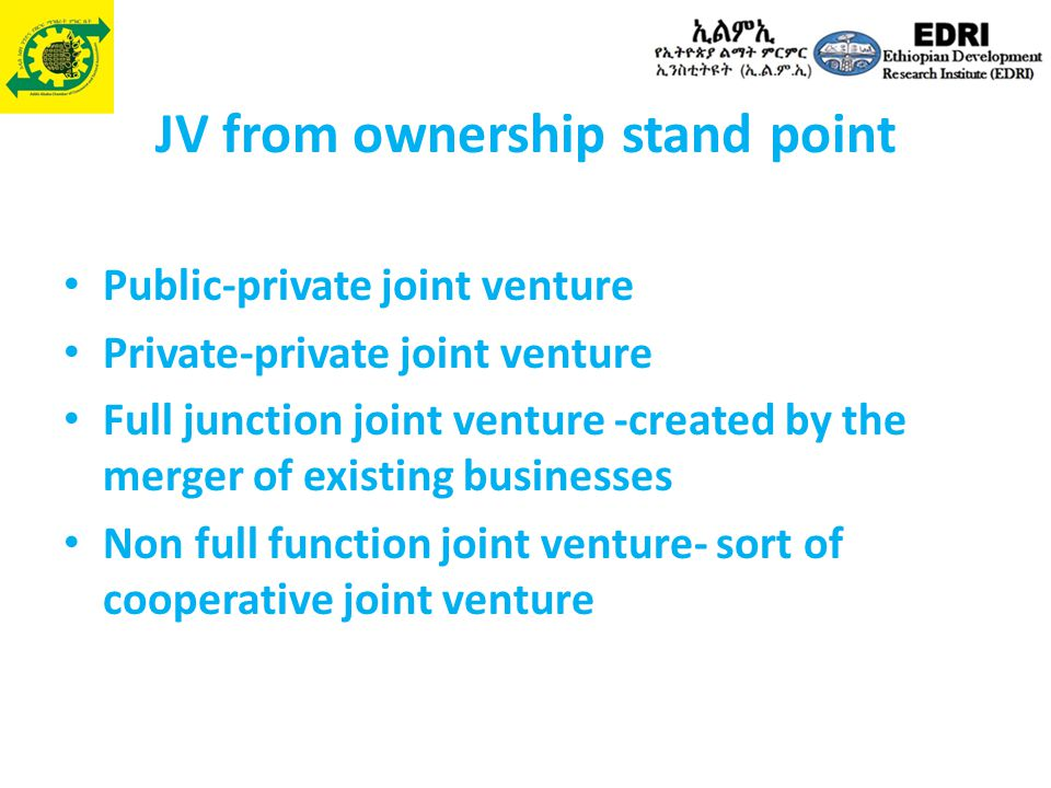 JV from ownership stand point