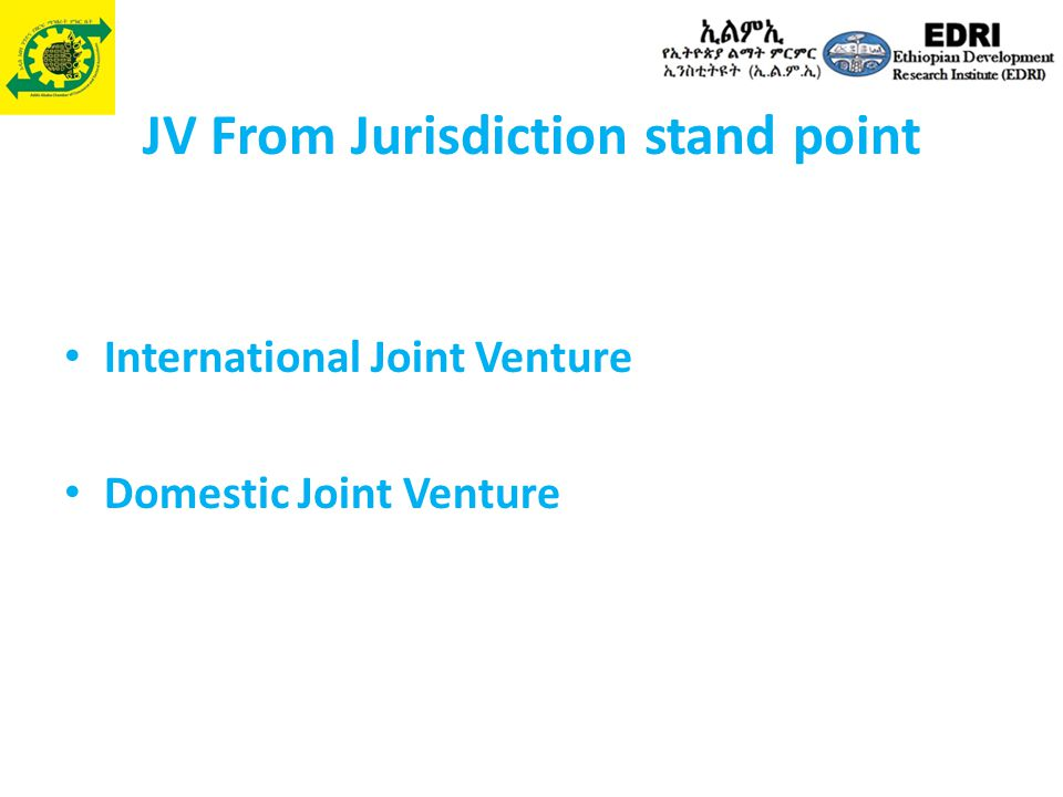 JV From Jurisdiction stand point