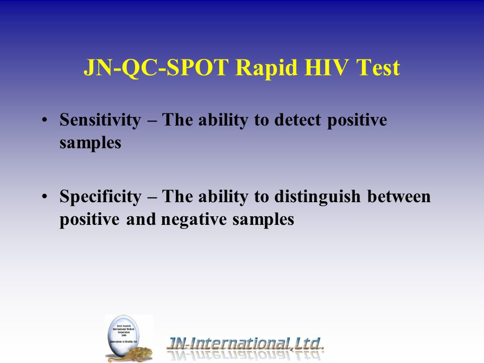 JN-QC-SPOT Rapid HIV Test