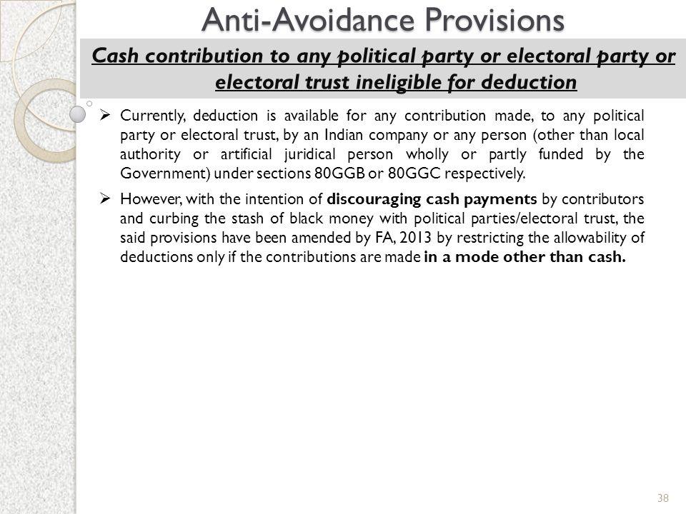 Anti-Avoidance Provisions