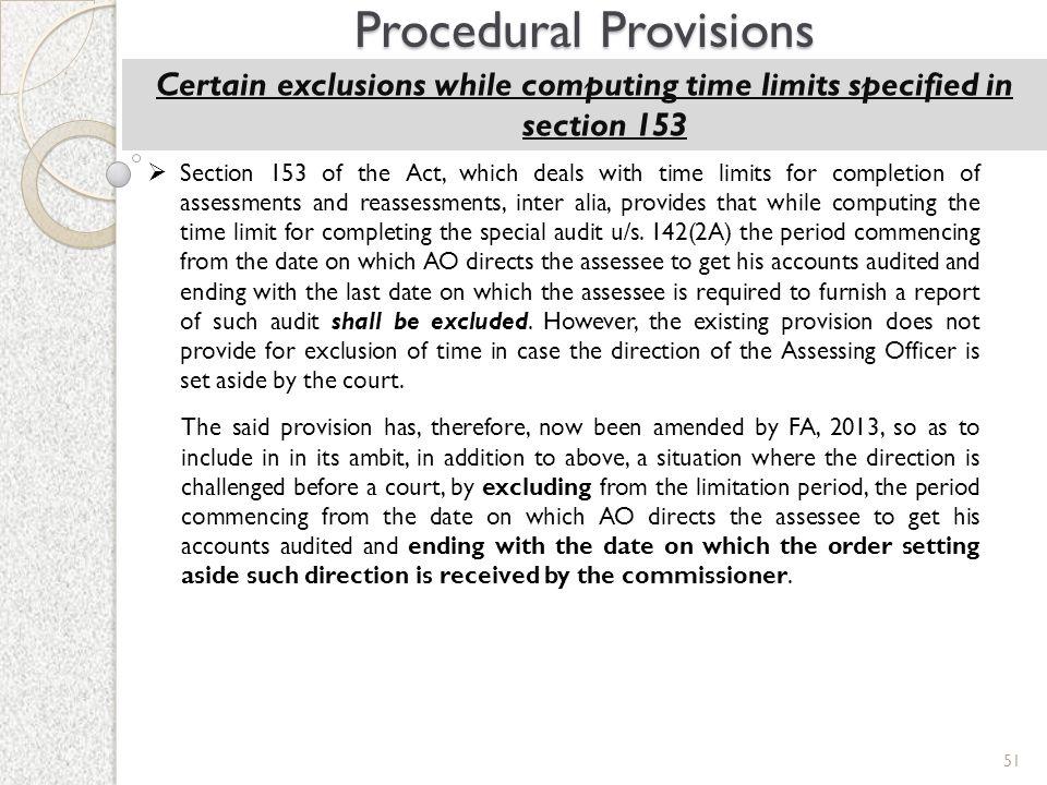 Procedural Provisions
