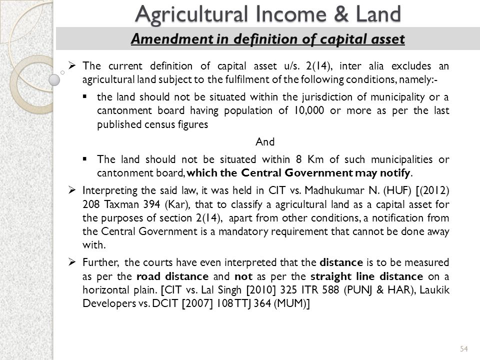 Amendment in definition of capital asset