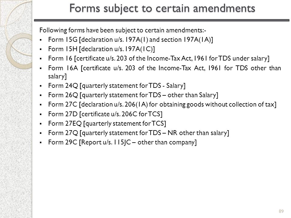 Forms subject to certain amendments