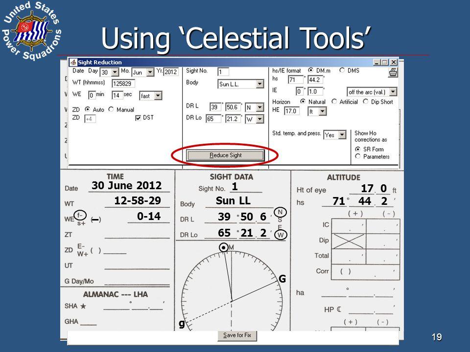 Using 'Celestial Tools'