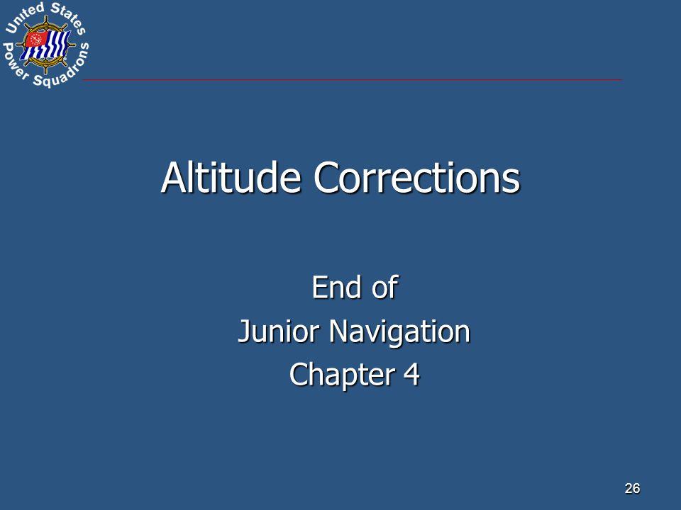 End of Junior Navigation Chapter 4