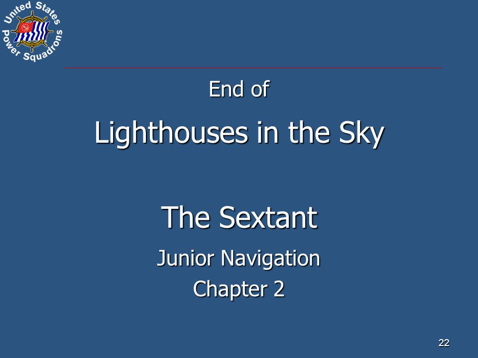 End of Lighthouses in the Sky The Sextant Junior Navigation Chapter 2