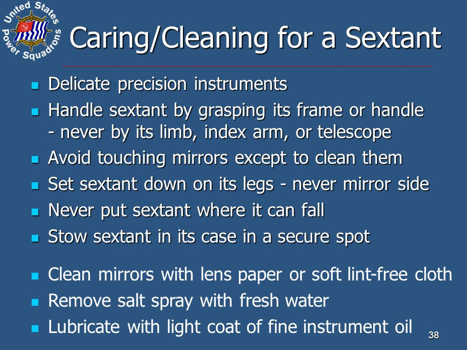 Caring/Cleaning for a Sextant