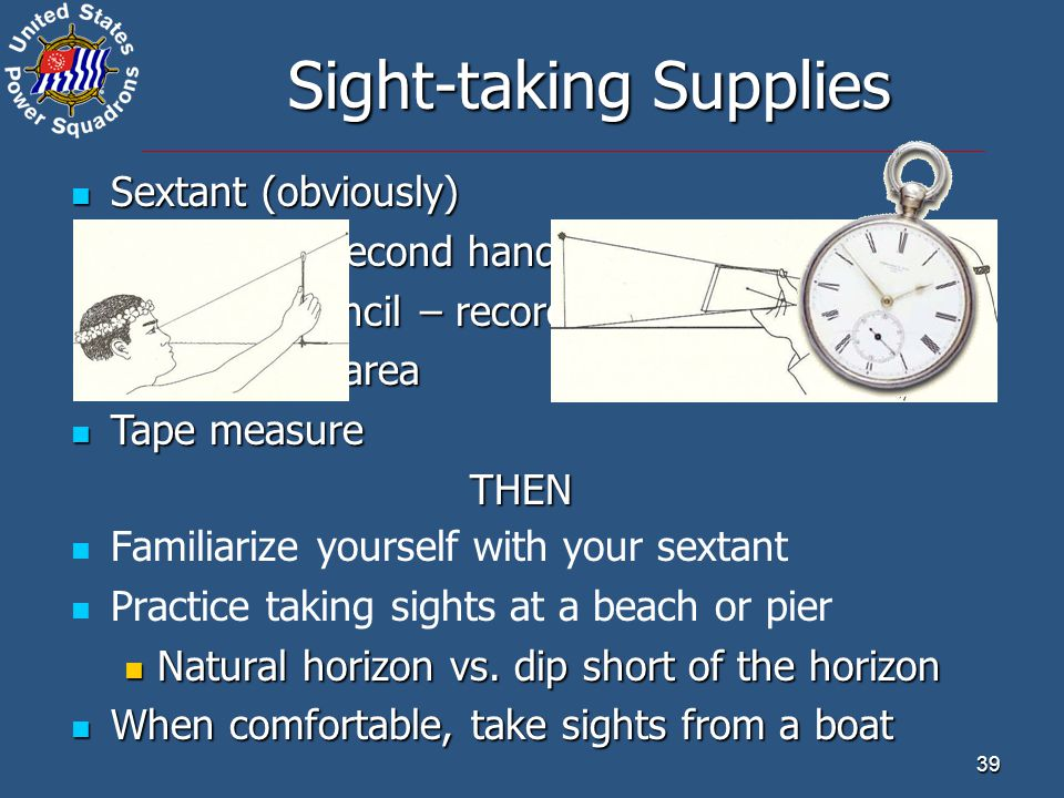 Sight-taking Supplies