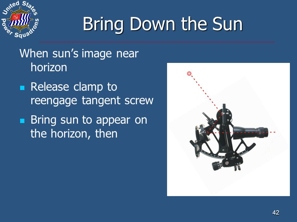 Bring Down the Sun When sun's image near horizon